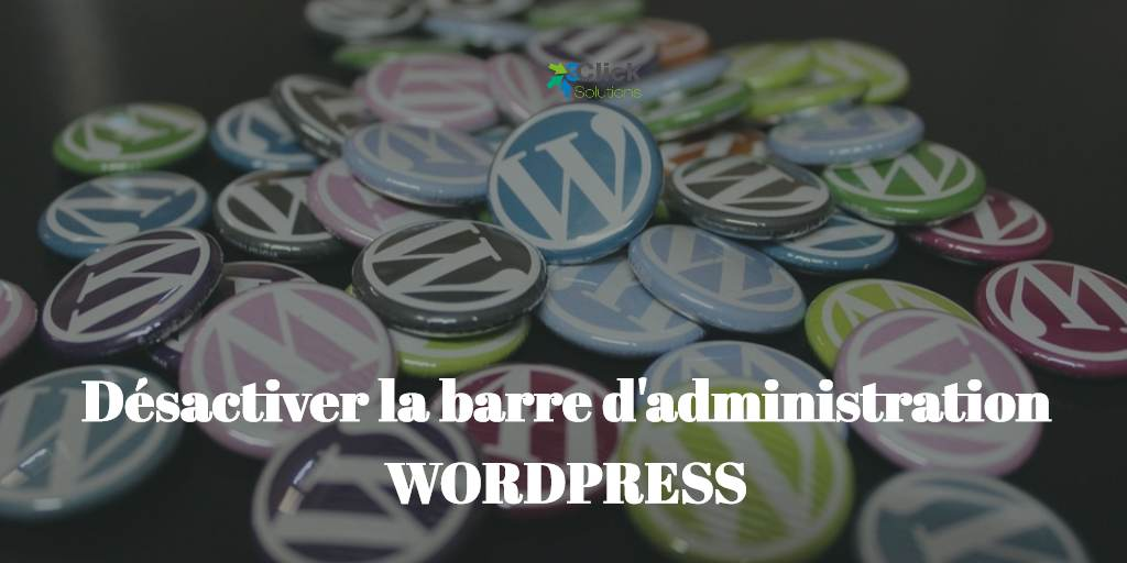 Désactiver la barre d'administration WordPress