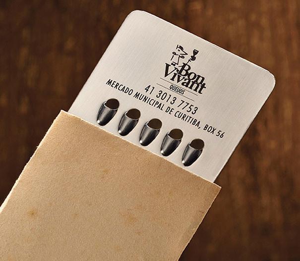 fromager - 25 designs créatifs pour des cartes de visite originales