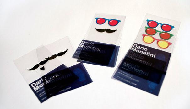 carte transparente - 25 designs créatifs pour des cartes de visite originales