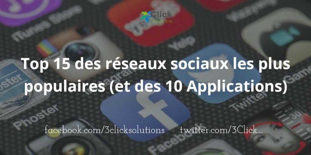 Top 15 des réseaux sociaux les plus populaires (et des 10 Applications)