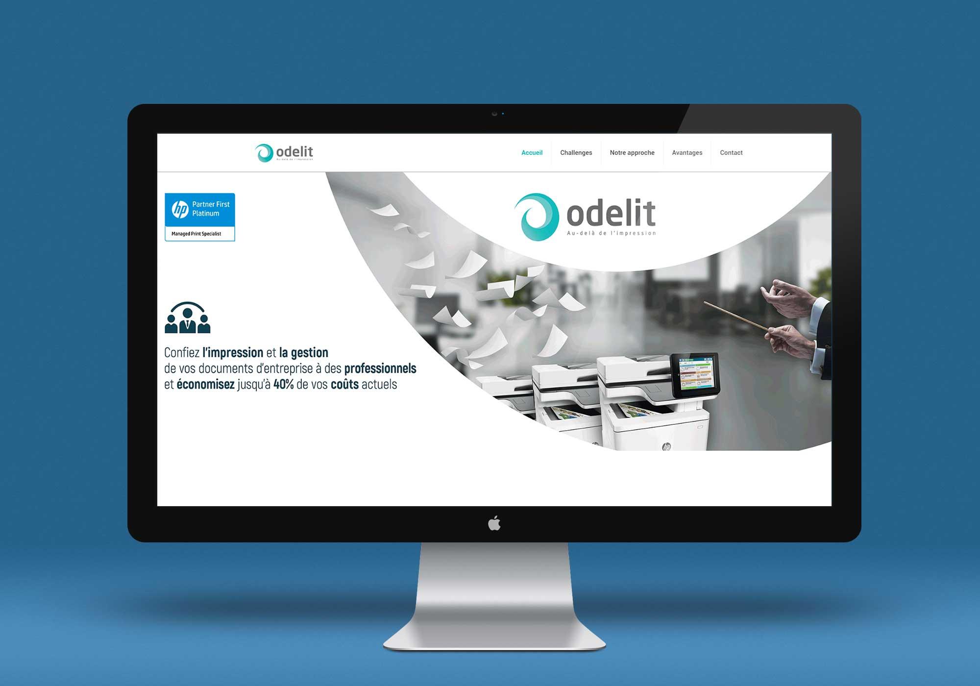Odelit, spécialiste des services gérés d'impression et des solutions documentaires en Tunisie - site web responsive