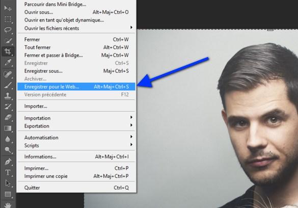Photoshop possède une fonction magique : « Enregistrer pour le Web »