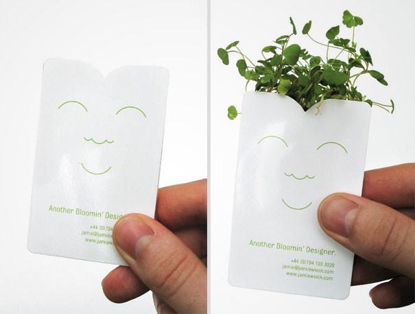 jardinier - 25 designs créatifs pour des cartes de visite originales