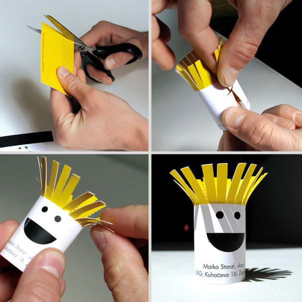 coiffeur - 25 designs créatifs pour des cartes de visite originales