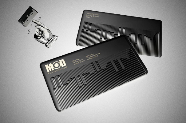 vendeur d'instruments de musique - 25 designs créatifs pour des cartes de visite originales