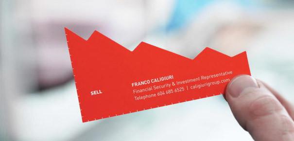 Spécialiste en placement financier - 25 designs créatifs pour des cartes de visite originales