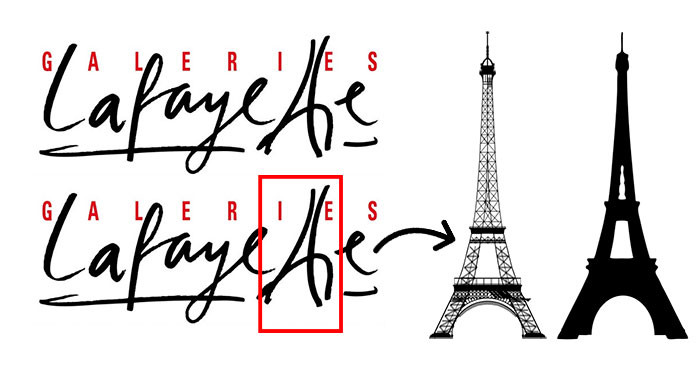 Le vrai sens du logo Galerie LAfayette