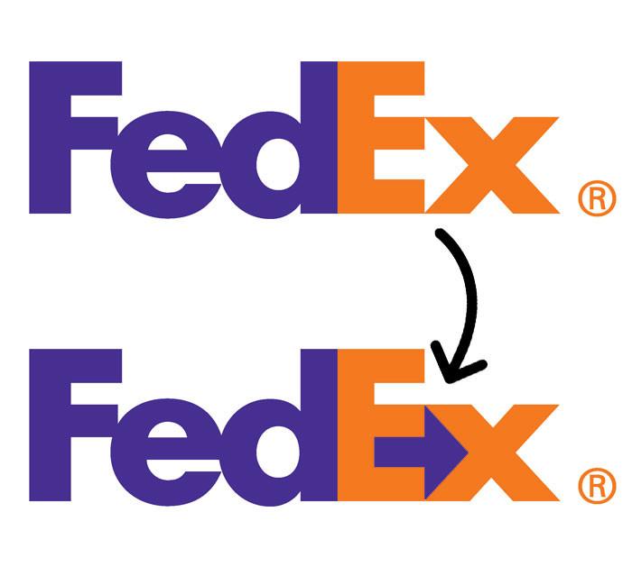 Le vrai sens du logo FedEx