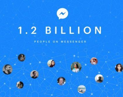 Facebook Messenger : 1,2 milliards d'utilisateurs actifs mensuels
