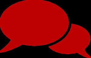 Une bulle de discussion
