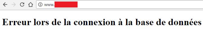 """problème """"Erreur lors de la connexion à la base de données"""""""
