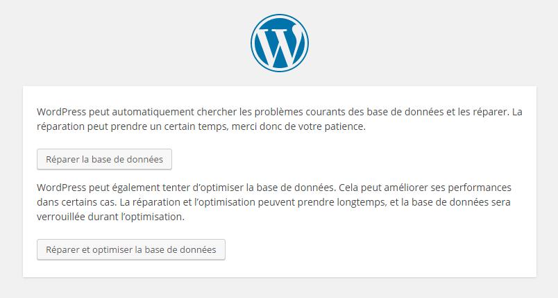 Réparer votre base de données WordPress