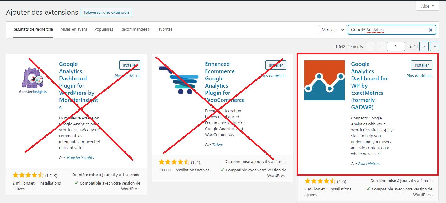 installez le plugin Google Analytics
