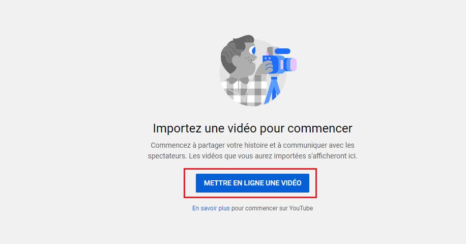 Ajouter une vidéo a votre chaîne YouTube