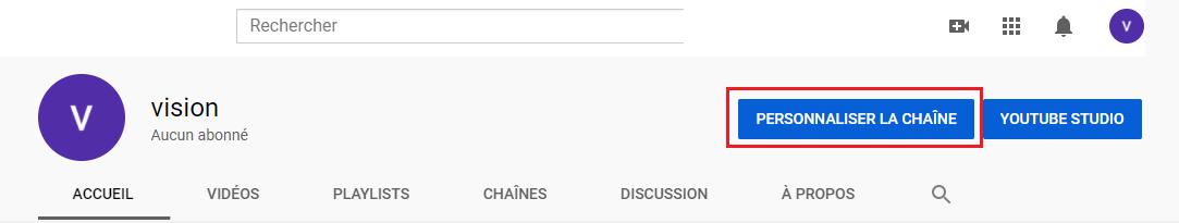 Youtube personnaliser votre chaine