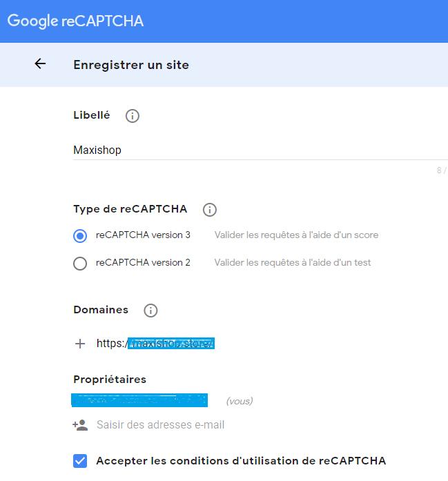 console d'administration de Google